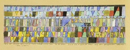 Paul Klee: Leicht schwimmt mein Schiff über den hohen Fluss... 1916