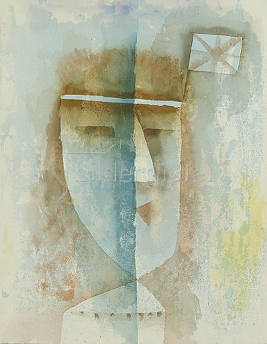 Paul Klee: Beflaggtes Mädchen. 1929. K 9