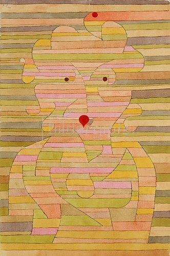 Paul Klee: Bildnis Frau Gl. 1929 M.9