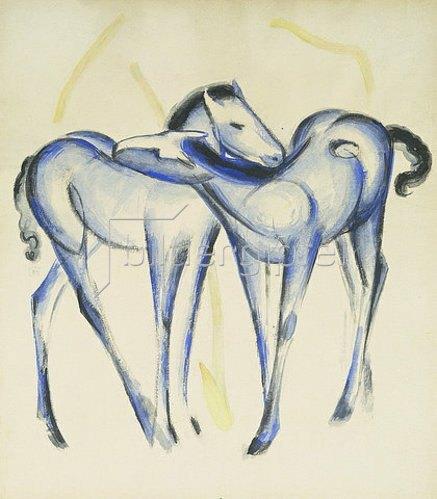 Franz Marc: Zwei blaue Pferde.