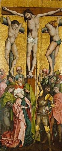 Salzburger Meister: Die Kreuzigung Christi.
