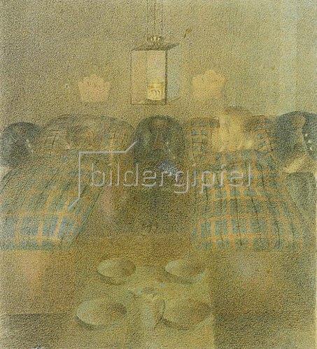 Otto Meyer-Amden: Schlafsaal im Waisenhaus.
