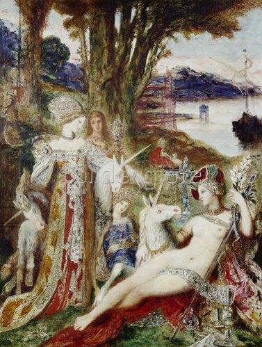 Gustave Moreau: Die Einhörner. Um 1885.