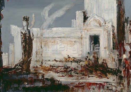 Gustave Moreau: Helena am Scea-Tor. Um 1880.