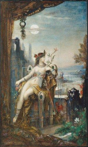 Gustave Moreau: Kleopatra. Um 1887.