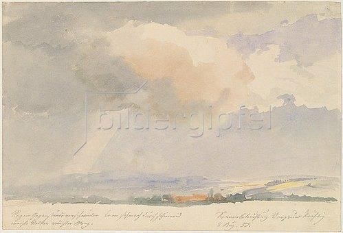 Ernst Ferdinand Oehme: Wolkenstudie. 1852.