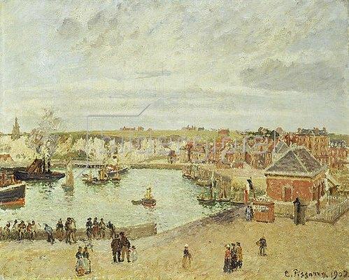Camille Pissarro: Der Hafen von Dieppe. 1902