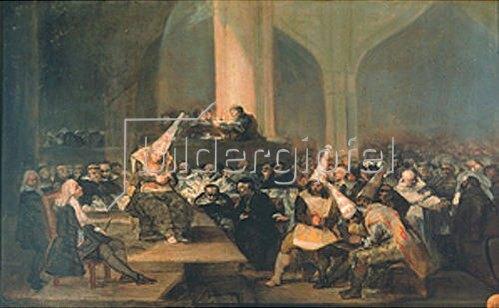 Francisco José de Goya: Sitzung des Inquisitionsgerichtes. Um 1812/19