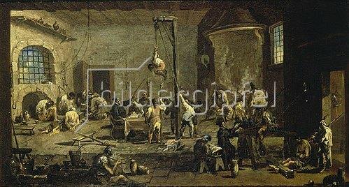 Alessandro Magnasco: Gerichtsszene (Inquisition). Um 1710/20