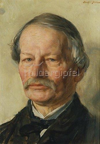 Karl Stauffer-Bern: Bildnis des Dichters Gustav Freytag.