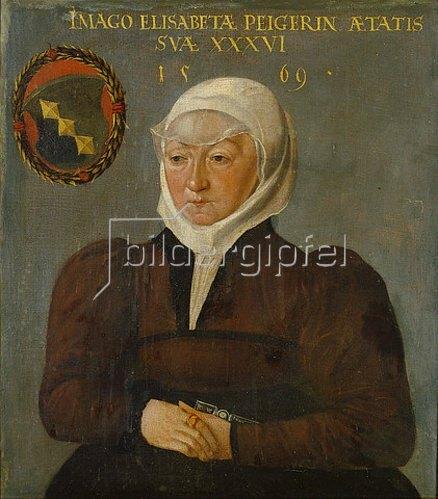 Abel Stimmer: Bildnis der Elisabeth Peyer von Schaffhausen, Gattin des Samuel Grynaeus
