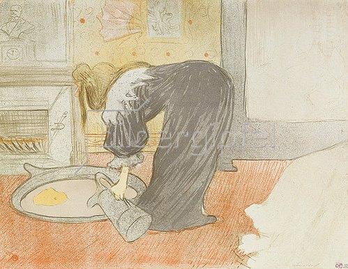Henri de Toulouse-Lautrec: Frau an der Wasch-Schüssel.