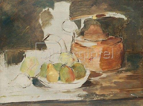 Henri de Toulouse-Lautrec: Stilleben mit Obst und Wasserkessel.