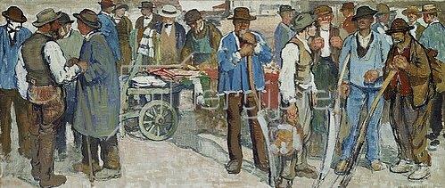 Edouard Vallet: Markt in Genf. 1906