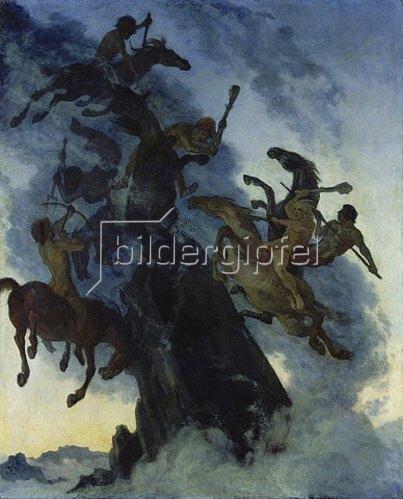 Albert Welti: Nebelreiter. 1896.