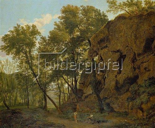 Jakob Christoph Bischoff: Waldlandschaft bei Papinio. 1817.
