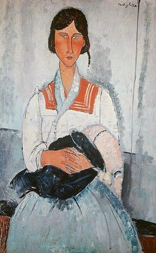 Amadeo Modigliani: Zigeunerfrau mit Kind. 1918