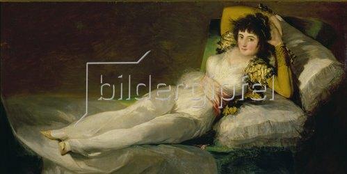 Francisco José de Goya: Die bekleidete Maja. 1800-07