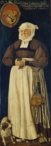 Abel Stimmer: Elsbeth Hochmann, Gemahlin des Jacob Schwytzer, Bildnis, 1564