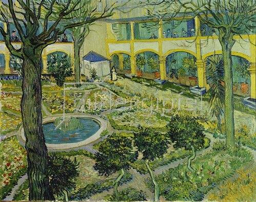 Vincent van Gogh: Der Garten des Maison de Santé in Arles. 1889