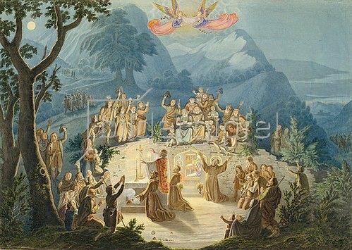 Ludwig Emil Grimm: Die Krippenfeier des hl.Franziskus.