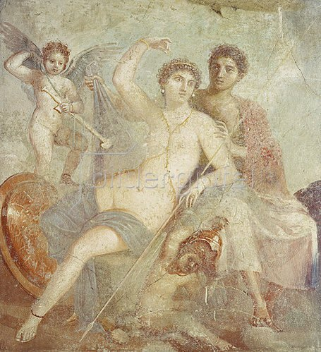 Pompeji: Ares und Aphrodite.