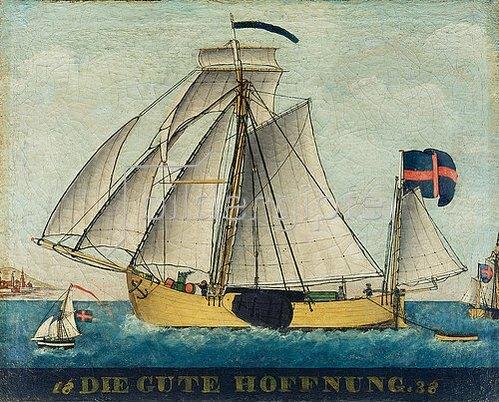 Anonym: Darstellung des Schiffes Die gute Hoffnung.