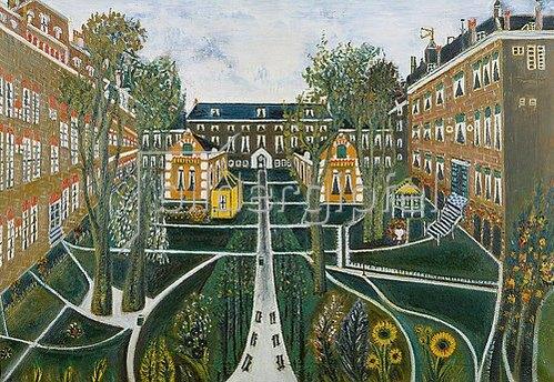 Sipke Cornelis Houtman: Der Garten des Altersheims in Amsterdam. 1941.