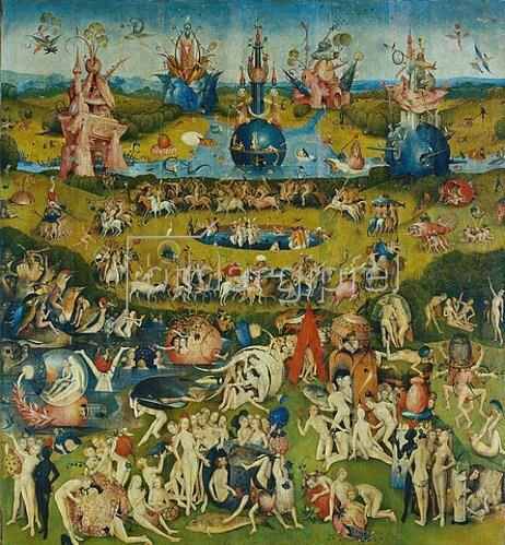 Hieronymus Bosch: Der Garten der Lüste. Mitteltafel des Triptychons.