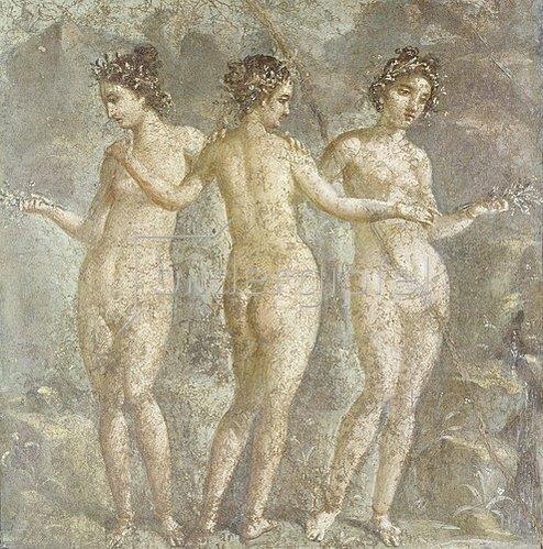Pompeji: Die drei Grazien.