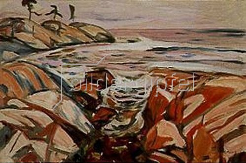 Edvard Munch: Küstenlandschaft (Hvitsten).