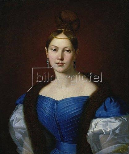 Sergej Konstantinow Sarjanko: Bildnis einer jungen Frau. 1856
