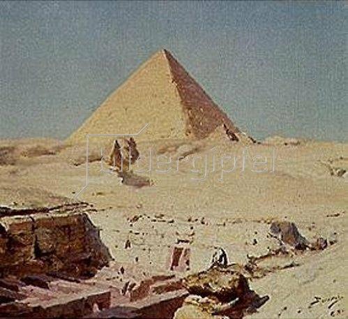 Vasilij Dimitrijew Polenow: Sphinx und Cheops-Pyramide. 1886.