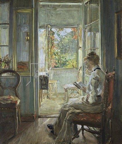 Fritz von Uhde: In der Verandatür. 1902