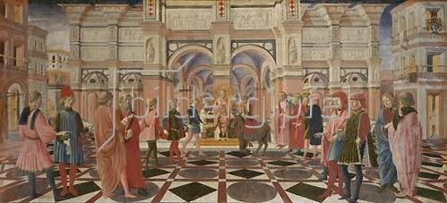 Il Vecchietta (P.di Lorenzo): Das Eselswunder des hl.Antonius.