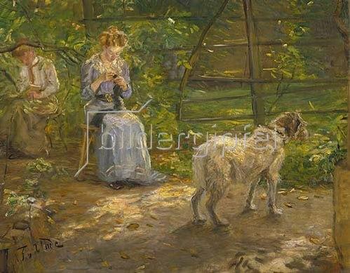 Fritz von Uhde: In der Herbstsonne. Um 1897