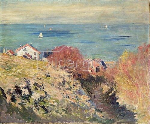 Claude Monet: Meeresküste mit Häusern.
