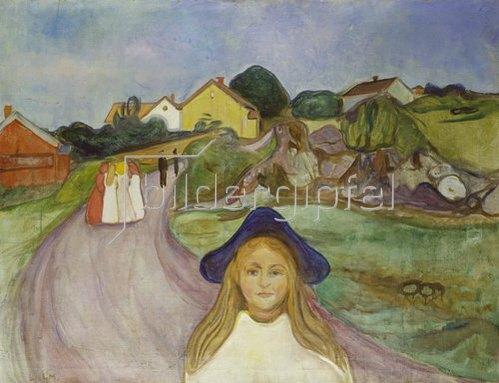 Edvard Munch: Strasse in Åsgårdstrand.