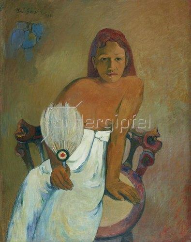 Paul Gauguin: Mädchen mit Fächer. 1902.