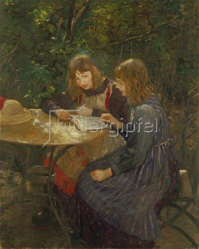 Fritz von Uhde: Zwei Mädchen im Garten. 1892