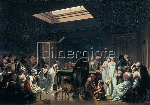 Louis-Léopold Boilly: Im Billard-Salon. 1807.