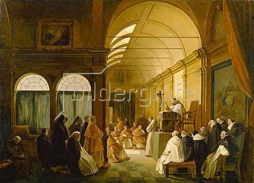 François Marius Granet: Konferenz der Kapitulare eines Klosters.