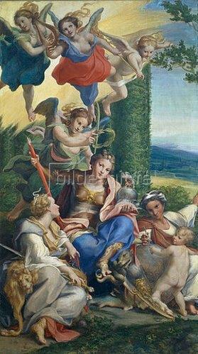 Correggio (Antonio Allegri): Allegorie der Tugenden. 1529/1530.
