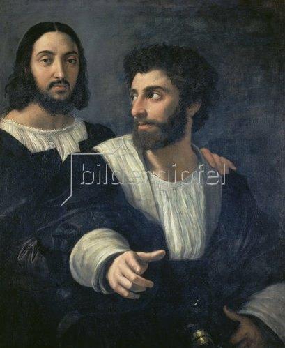 Raffael (Raffaello Sanzio): Selbstbildnis mit einem Freund.