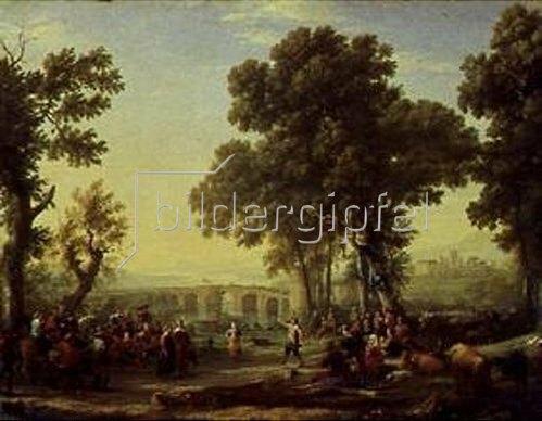 Claude Lorrain (Gellée): Dörfliches Fest. 1639.