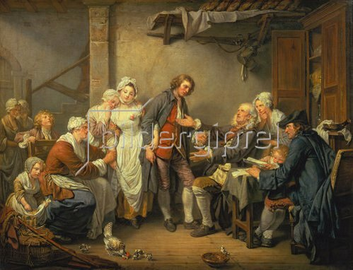 Jean Baptiste Greuze: Die Verlobung im Dorfe.