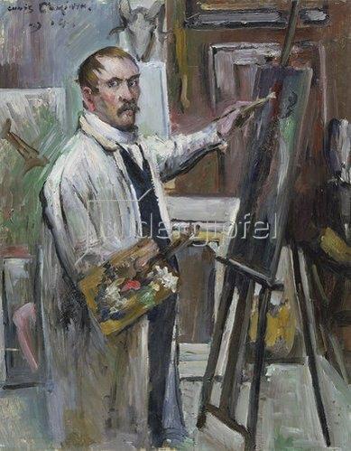 Lovis Corinth: Selbstbildnis vor der Staffelei. 1914
