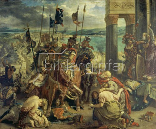 Eugene Delacroix: Einzug der Kreuzfahrer in Konstantinopel am 12.April 1204. 1840.