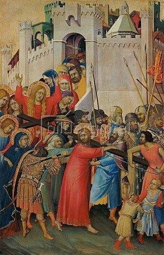 Simone Martini: Die Kreuztragung. Um 1336/1342(?).