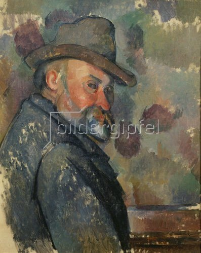 Paul Cézanne: Selbstbildnis mit Hut. 1890/1894.